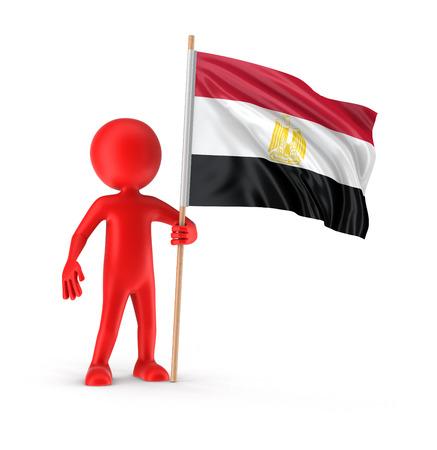 egyptian: Man and Egyptian flag