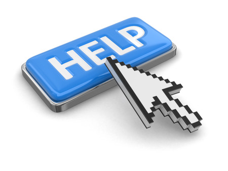 cursor: Cursor and button HELP Stock Photo
