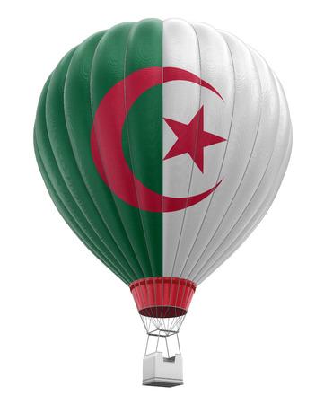 algerian flag: Light bulb with Algerian flag Stock Photo