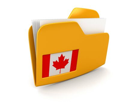 canadian flag: folder and lists with Canadian Flag