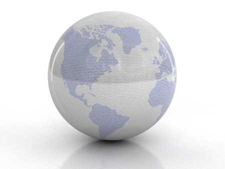 0 geography: Globe with Binary Code