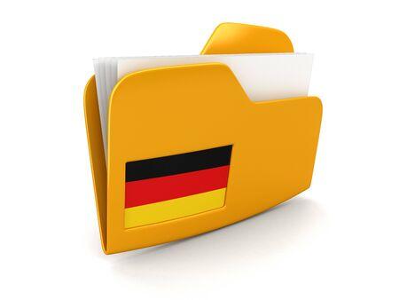 bandera alemania: carpeta y listas con la bandera de Alemania.
