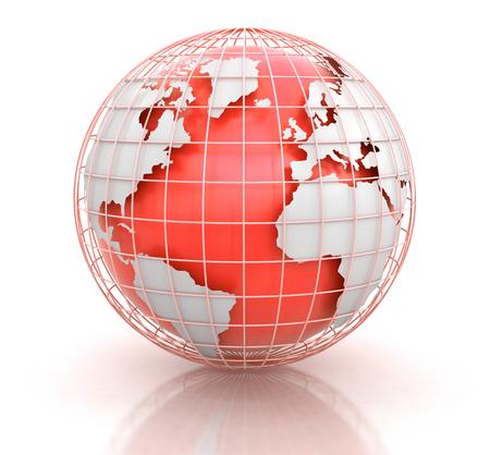 meridians: 3d Globe.