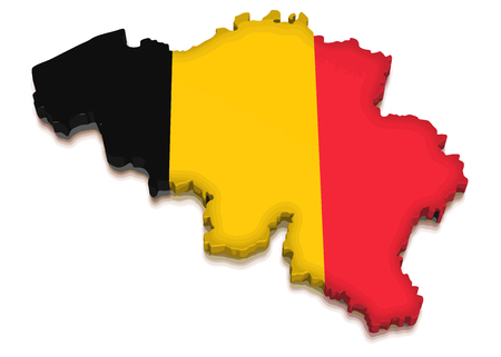 physical geography: Map of Belgium