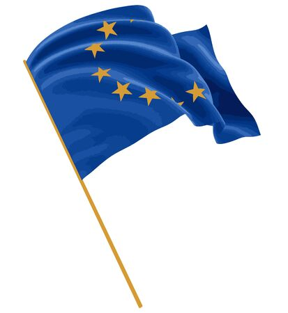 european culture: 3D flag of the European union with fabric surface texture