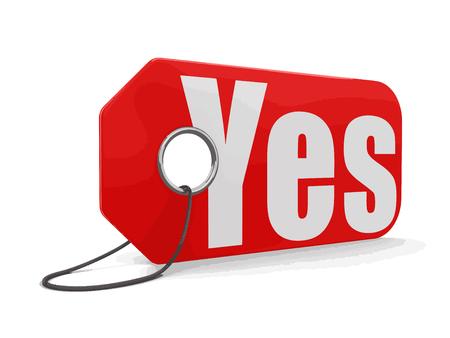 declaration of independence: Label yes Illustration