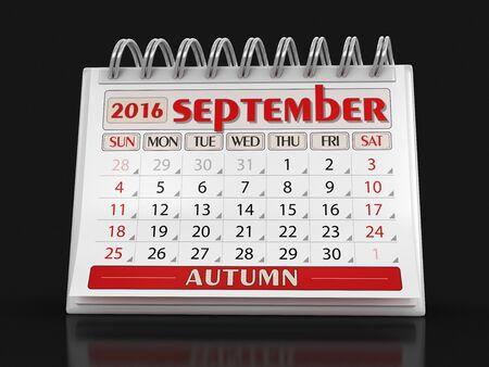 in september: Calendar - September 2016