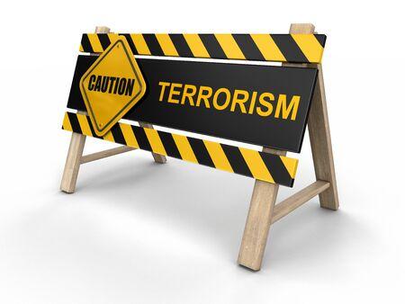 at sign: Terrorism sign Stock Photo