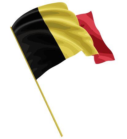 belgian: 3D Belgian flag