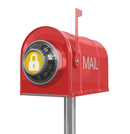 registered mail: Mailbox protection Illustration