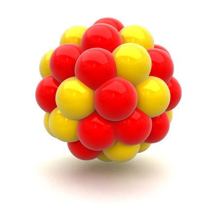 Atomic nucleus.