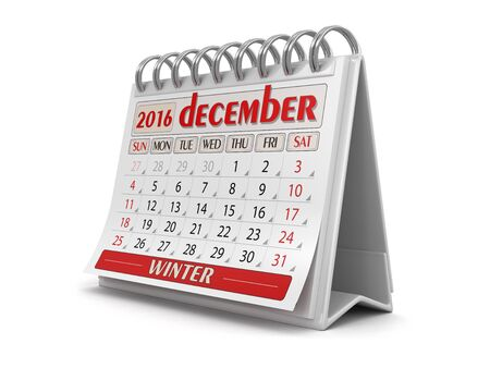 calendario diciembre: Calendario - diciembre el año 2016