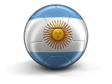 argentinian flag: Soccer football with Argentinian flag.