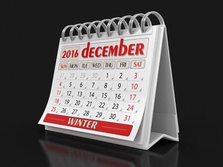 december: Calendar - december 2016 Stock Photo