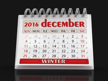 calendario diciembre: Calendario - diciembre el a�o 2016