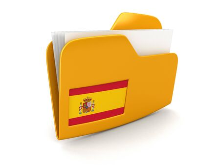 spanish flag: folder and lists with Spanish Flag.