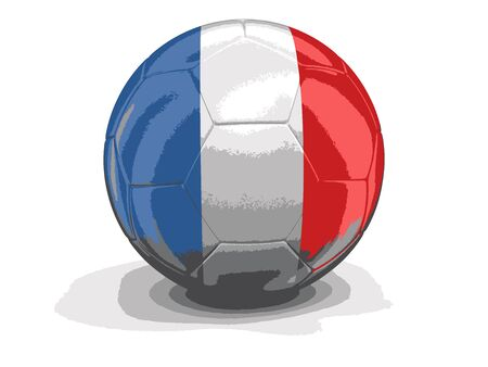 french flag: Soccer football with French flag. Illustration