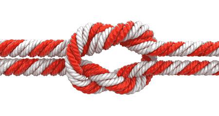 gefesselt: Gebunden Knoten. Illustration