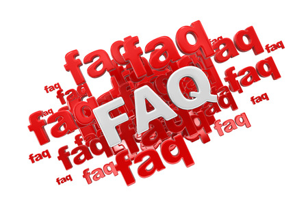 Word FAQ. Image with clipping path