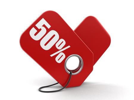 Label 50%. Stock Photo