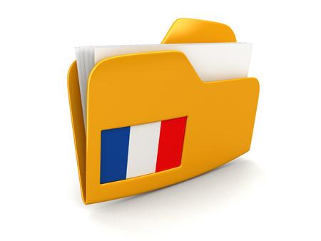 hoja de calculo: carpeta y listas con la bandera francesa.