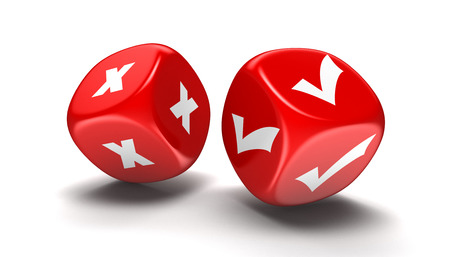 Dices with accept and decline.