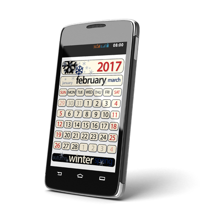 touchscreen: Touchscreen smartphone with February 2017.