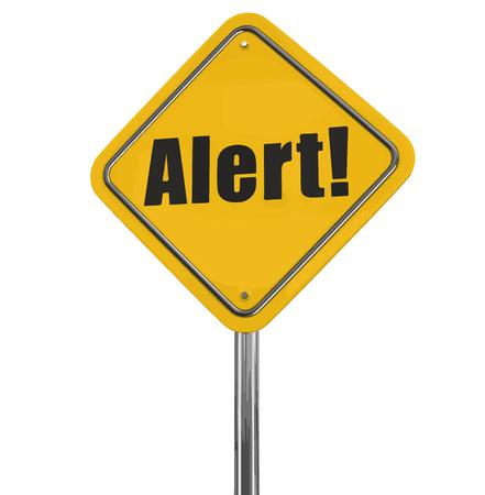 error message: Alert Road sign.