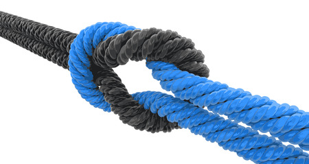 tied: Tied knot.