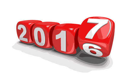新しい年の 2017 年。