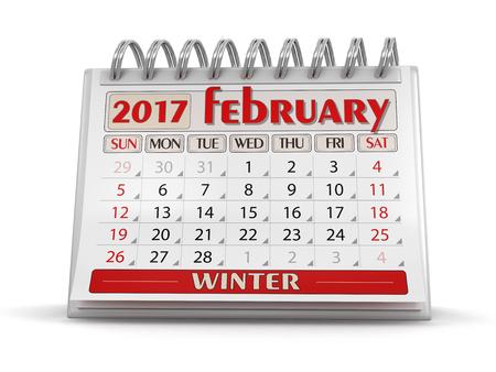 february: Calendar - february 2017 Stock Photo