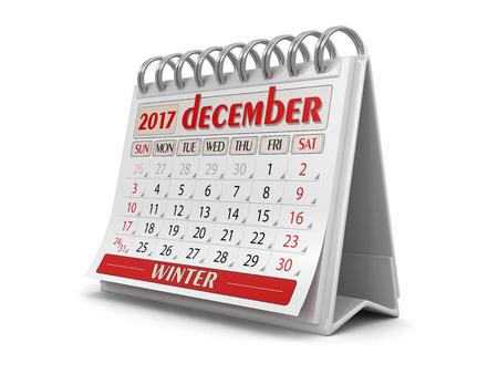 calendario diciembre: Calendar - december 2017