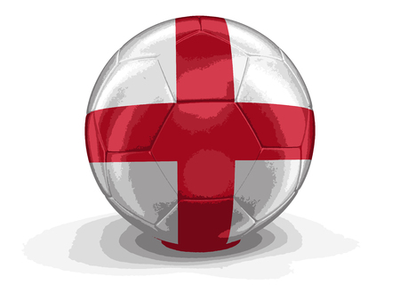 drapeau anglais: Football football avec le drapeau anglais. Illustration