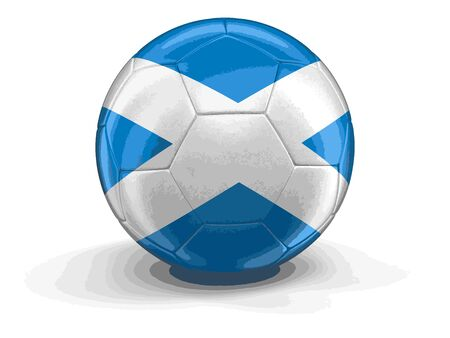 scottish flag: calcio calcio con bandiera scozzese. Vettoriali