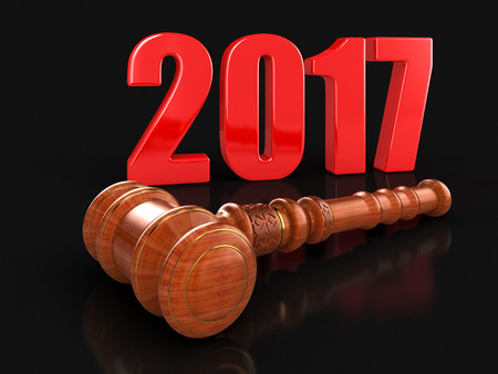 3d wooden mallet and 2017.