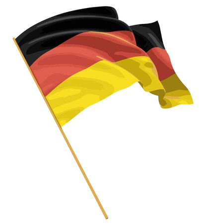 german culture: Man and German flag. Image with clipping path
