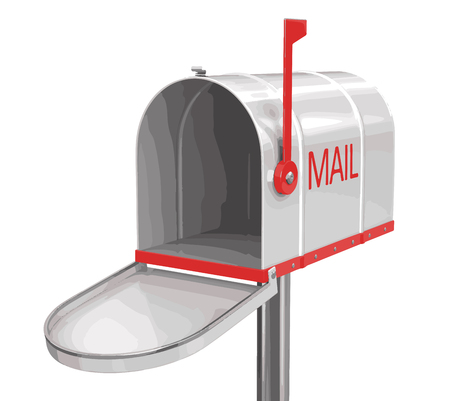 registered mail: Open mailbox. Image with clipping path