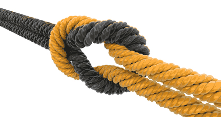 tied: Tied knot. Image with clipping path Illustration