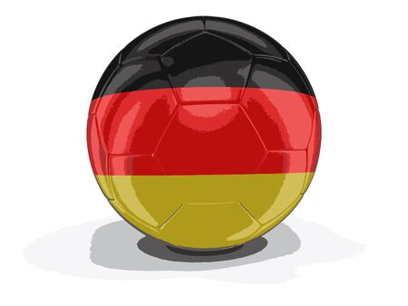german culture: Soccer football with German flag. Image with clipping path
