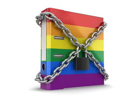 transexual: Color de la carpeta y la cadena. Imagen con trazado de recorte Foto de archivo
