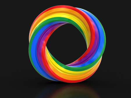 color ring: Color twisted ring. Stock Photo