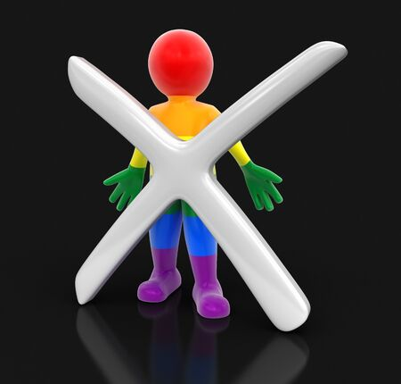 Color Man and cross. I