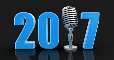 music 3d: Microphone with 2017.