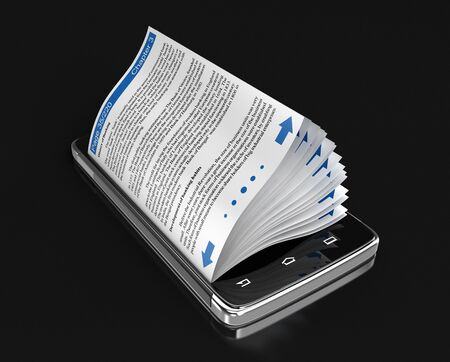touchscreen: Touchscreen smartphone and business book.