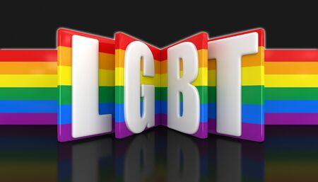 word: Word LGBT. Stock Photo