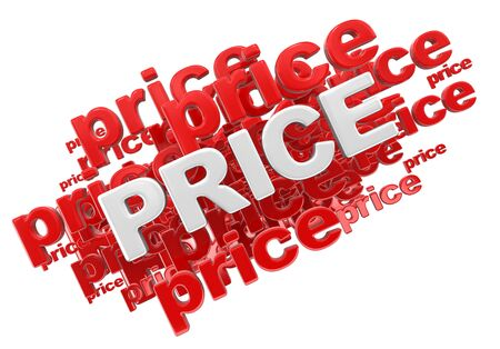 Word price. Image with clipping path