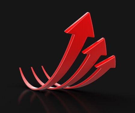 Arrows up. Image with clipping path Stock Photo