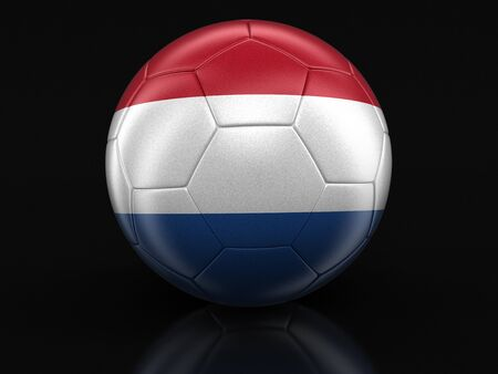 netherlands flag: Soccer football with Netherlands flag.