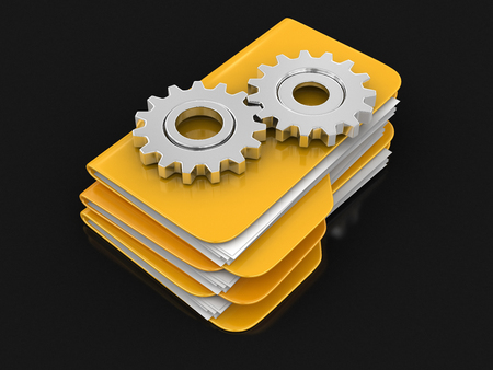 Folders and files with Cogwheels.