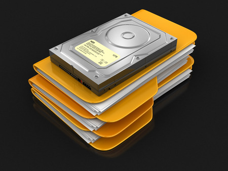 disco duro: Folders and files with Hard Drive.